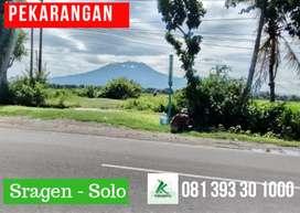 Dijual PEKARANGAN di Jln. Raya Sragen - Solo