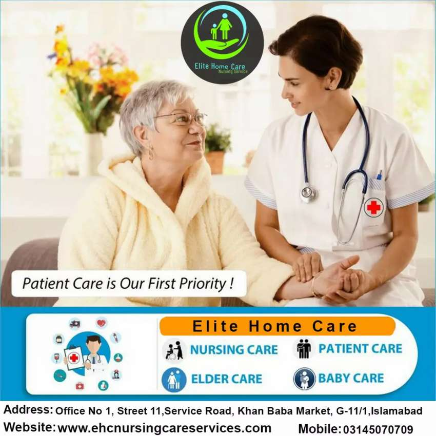 Required Male or Female Nursing Staff, Patient Care Staff in Islamabad 0