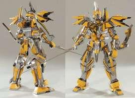 3d metal model yellow gundam cod makassar