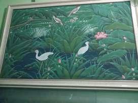Lukisan canvas ukuran 1.4m x 1meter