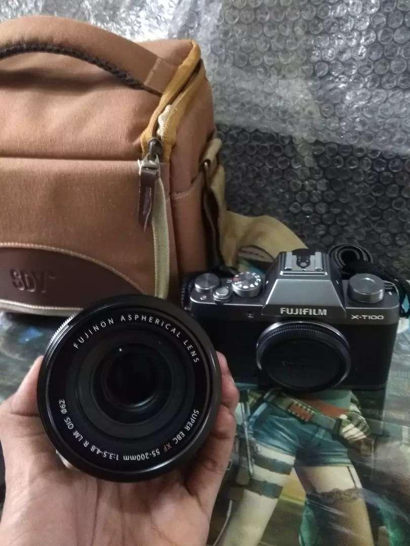 Dijual Gan Kamera Fujifilm X-T100 55-200MM 0
