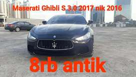 Maserati Ghibli S 3.0 2017 nik 2016 Km 8rb record ATPM Black on Red