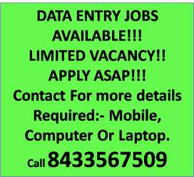 Part time work from home available in India.