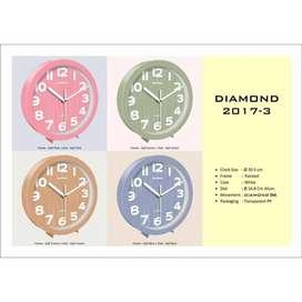 Jam Dinding Diamond 2017-3 - Soft Brown