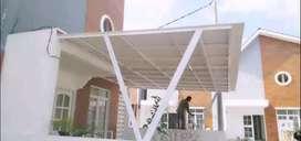 @57 canopy minimalis rangka tunggal atapnya alderon pvc bikin nyaman
