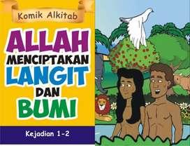 Buku ALLAH MENCIPTAKAN LANGIT DAN BUMI - Komik Alkitab Anak