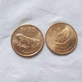 uang kuno 50 perak Komodo 1993/1994