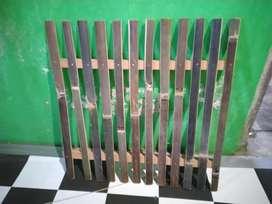 Footrest bambu alas kandang kelinci