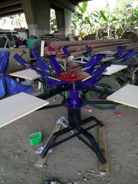 mesin kaos rotary manual meja sablon papan kayu screen maluku ambon