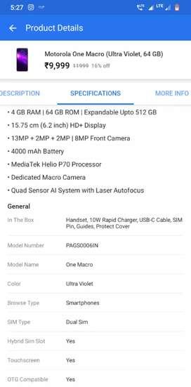 Moto one macro 2month mobile