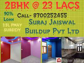 1Bhk 40 gaj at 9.5 lacs newly built 2-side open