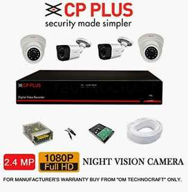 CCTV camera full HD 2.4 MP 4 camera set