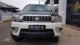 Toyota Fortuner 2.7 G Lux A/T th 2010 plat KB, Eks Pak Camat