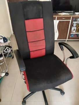 Adjustable chair with wheels. Comfortable chair