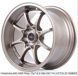 velg mobil racing hsr ring 15x7/8,5 h8x100-114,3 smbrz