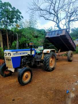 Fixed price Swaraj 843 with rotavator, cultivator, trally, half wheels