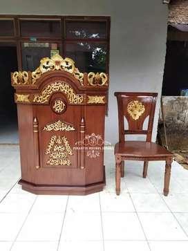 Mimbar podium masjid + kursi