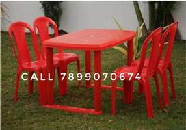 Plastic 4 chair dining table good quality best price all type availabl