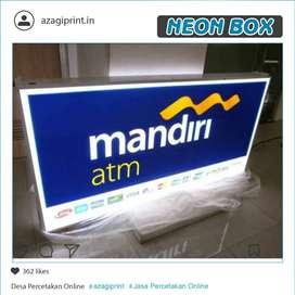 Neon Box Kotak 60 x 90 cm 2 sisi