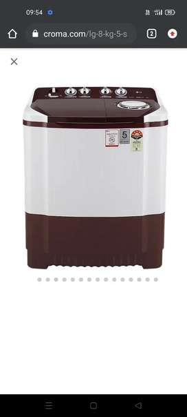 Single time use LG washing machine 5star less used