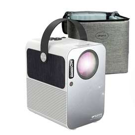 WZATCO M6 Pro Android 9.0 Smart WiFi Bluetooth Projector and Screen