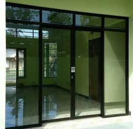 Pintu kaca jendela kusen partisi dan kaca mati .264