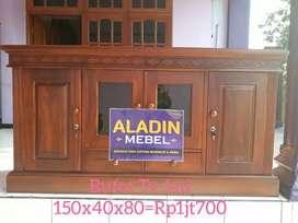 Buffet tv jati Asli ready Aladin sidoarjo Sedati 1410