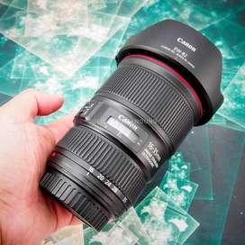 Canon 16-35mm F4 L IS USM. Fullset Mulus. ex Datascrip. murah
