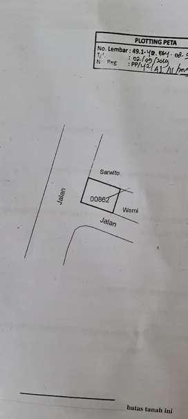 Tanah bonus bangunan strategis tepi jalan provinsi, jual cepat
