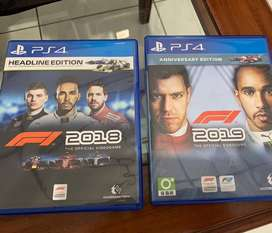 Game Ps4 F1 2019 F1 2018 Bd Ps4