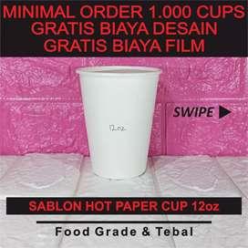 Sablon Paper Cup 12 oz