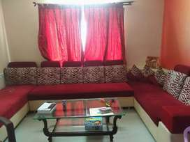 Red and cream Sofa available for Sale