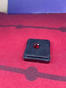 Hessonite garnet red