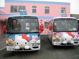AL pabrik odong mobil hellokitty kereta mini wisata cat airbrush