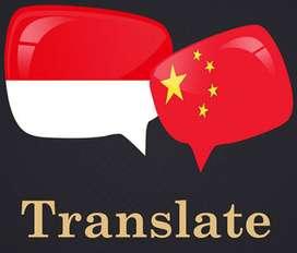 Translator Mandarin / Penerjemah Mandarin /Interpreter Mandarin/ Admin