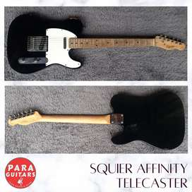 Squier affinity telecaster black by fender