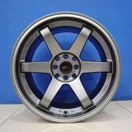 Cicil Velg Mobil Mirage Latio DP 10% Ring 17 HSR Wheel TOKYO OSHU SMG