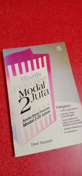 "Bisnis Franchise Modal 2 Juta|Top Seller (Special from ""MyDreamBook"")"