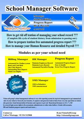 School Management Software Only Rs.2500 per Month