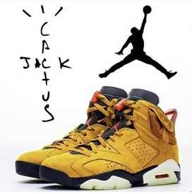 NIKE AIR JORDAN Travis scott Shoes (mustard yellow )
