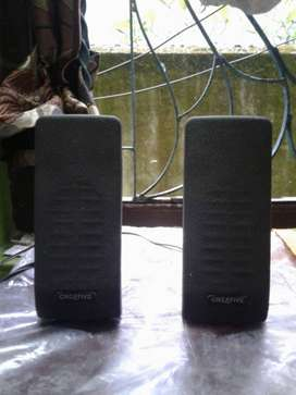 Two Black Logitech Computer Speakers