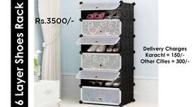 Plastic Shoe Rack Foldable Cabinet with Different Layers