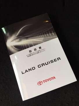 Book Manual Repro Ori Toyota Land Cruiser Japan/UK 2008 - 2015Up