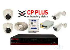 Security Bazaar Brand New Cp plus Hikvison cctv 2,4,8, channel set up