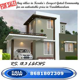 G+1 - 2 BHK - 3.21 CENT LAND - Home for sale in vandithavalam