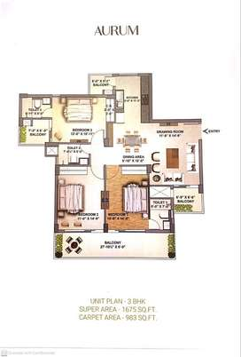 3bhk with store room for sale in sector 91 mohali jubilee golfvista