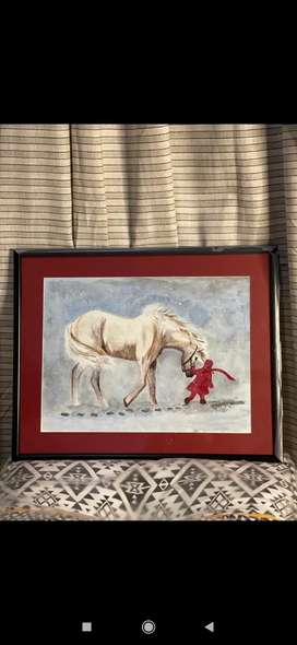 Snow Horse - Wall Painting