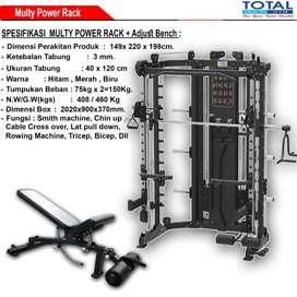 Power Rack Multifungsi Alat Olahraga Body Building
