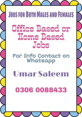 Online Job for both Males and Females Limited Seats