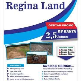 Kavling Siap Bangun Regina Land